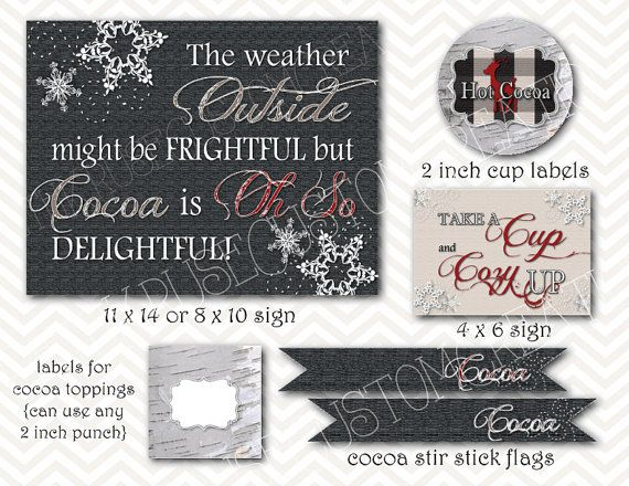 printable hot cocoa bar #hotcocoa