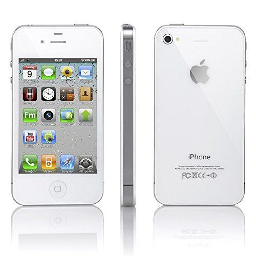 Apple iPhone 4 (A1332) 16GB GSM Factory Unlocked No Warranty (White)   Apple iPhone 4 (A1332) 16GB GSM Factory Unlocked No Warranty (White) This phone can be restored within iTunes and is compatible with all versions of iOS7. This product does not have a manufacturer warranty rather a 30-day return period with seller. At just 9.3mm, the iPhone 4 is thin as a rake but the front and back are 30 times stronger than the usual plastic. Reason - aluminosilicate glass, the stuff that windsh..