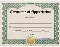 printable certificates of appreciation