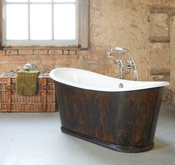 Freistehende badewanne antik gebraucht  Die besten 25+ Gusseisen badewanne Ideen auf Pinterest | zu Fuß in ...