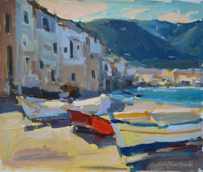 "Gardner Colby Gallery www.gardnercolbygallery.com Naples, FL Artist: Anne Blair Brown ""Kept at Bay"" 10x12 oil painting"