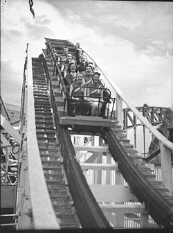 The Big Dipper was a wooden roller coaster operating at Luna Park Sydney from 1935 until 1979. It was demolished in 1981. First constructed in 1930 to an American design, the wooden Big Dipper roller coaster was a mainstay of Luna Park Glenelg during its four years of operation. The ride was dismantled and shipped to Sydney when the Glenelg park went into voluntary liquidation in 1934, and became the biggest attraction of the newly-opened Luna Park Milsons Point