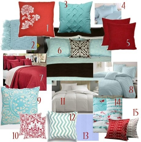Tiffany Blue And Red Color Pallet Formaster Bedroom