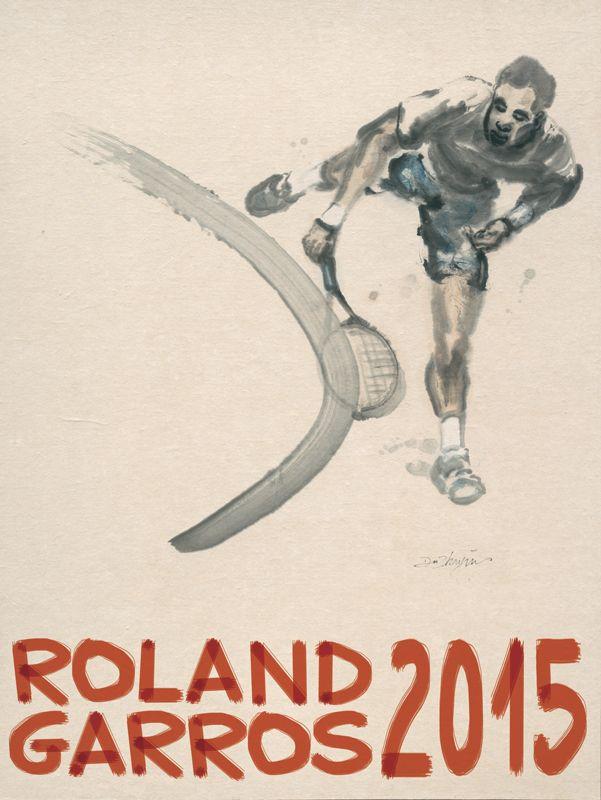 Poster of Roland-Garros 2015 © Du Zhenjun - Galerie Lelong - FFT 2015