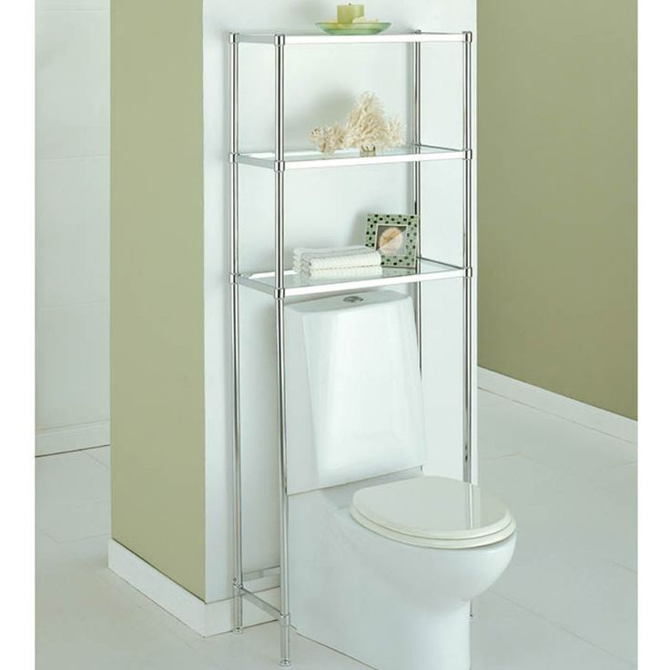 The Over the Toilet Etagere offers a simple way to keep supplies stored in the bathroom so they are within view and reach.