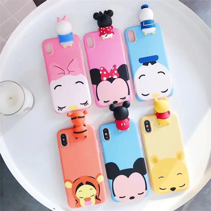 3D cartoon Mickey Minnie toys phone Cases For iphone X 6 6s 6plus 7 7Plus 8 8Plu #UnbrandedGeneric