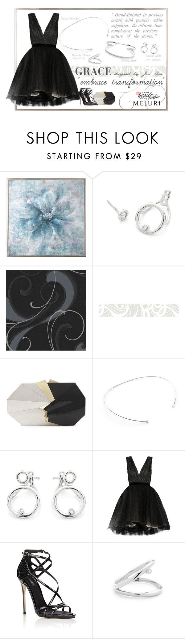 """""""Grace: Jen Chae x Mejuri - Contest Entry"""" by blueeyed-dreamer ❤ liked on Polyvore featuring Uttermost, Huddleson, Jill Haber, Alice + Olivia, Dolce&Gabbana, Silver, jewelry, grace, polyvorecontest and jenchaexmejuri"""