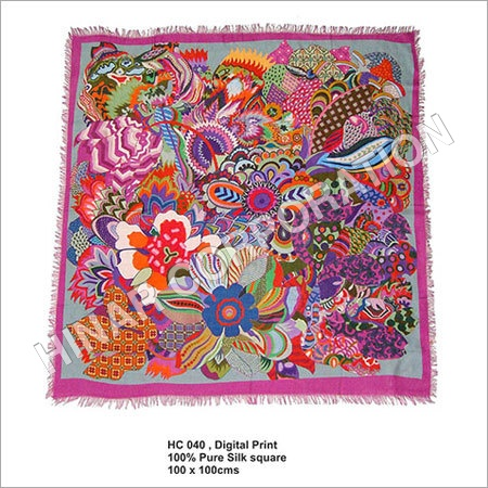 Digital printed Silk Square Scarves