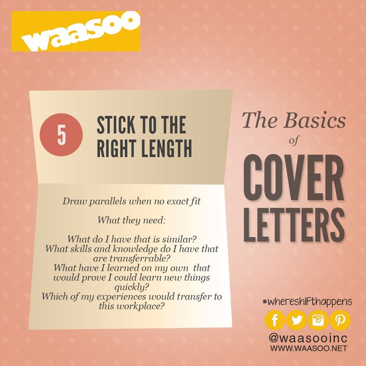 How To Do A Cover Page Captivating 7 Best Basics Of Writing A Cover Letter Images On Pinterest