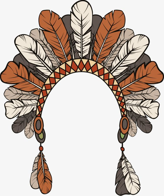 Vector Hand Painted Indian Feather Headdress Vector Hand Painted Headwear Png Transparent Clipart Image And Psd File For Free Download Feather Vector Kokopelli Art Indian Feathers