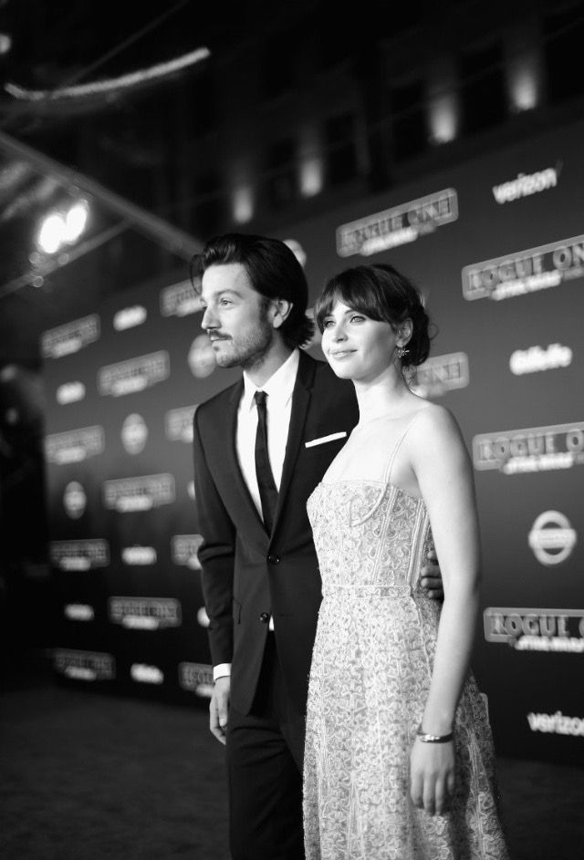 Rogue One Premiere: Felicity Jones and Diego Luna