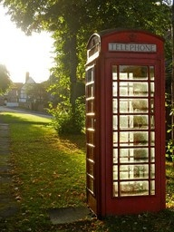 England - Must see a telephone booth and stand in it!