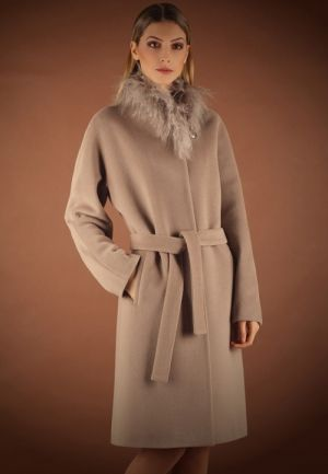 Пальто женское зимнее Anna Verdi Сонетта цвета какао