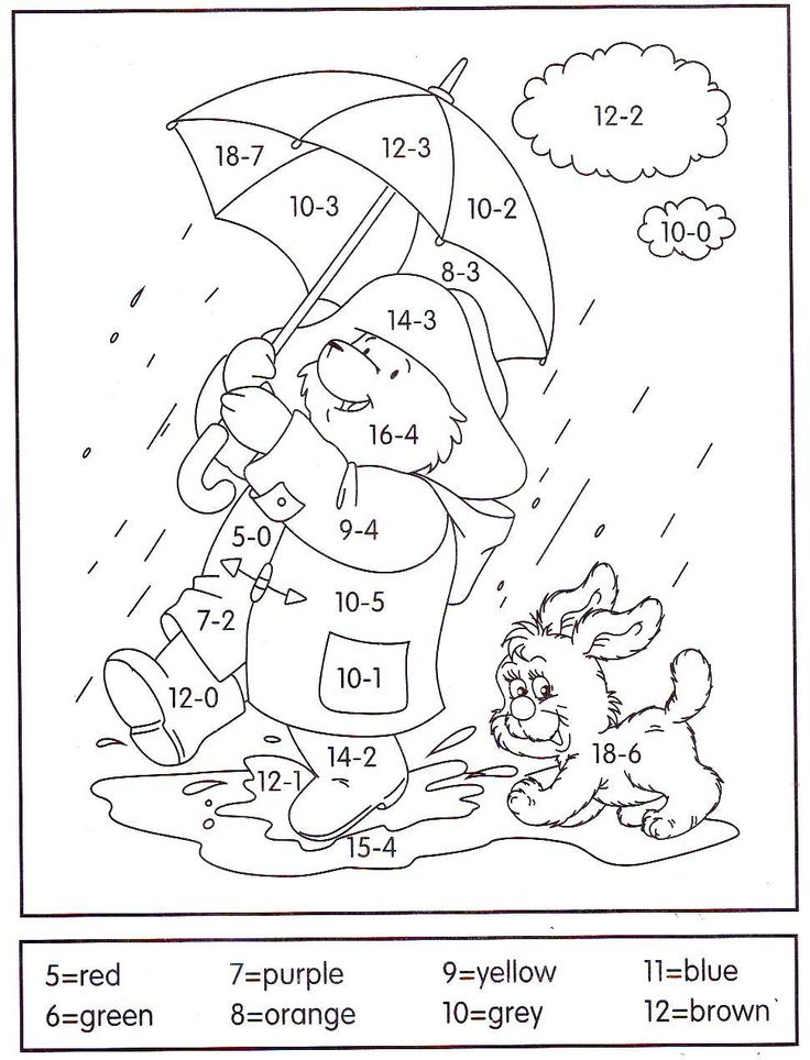 math coloring pages addition - photo#15