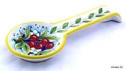 ITALIAN CERAMIC GIFTS, SPOON REST, NAPKIN HOLDERS, NAPKIN RINGS: Italian Ceramics - Deruta