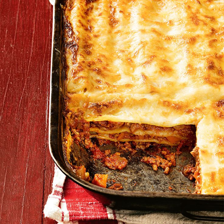 Even family favourites like Lasagne can be made gluten free. #Lasagne #Dinner #GlutenFree