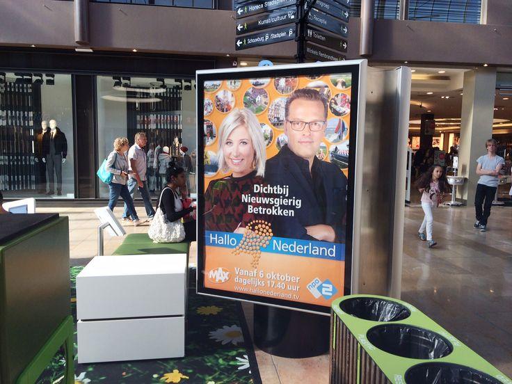 """""""Hallo Nederland"""" logo en billboard campagne ontwerp gemaakt door Reclamebureau Holland, Jochem Albrecht. Reclamebureaus en ontwerpbureaus"""