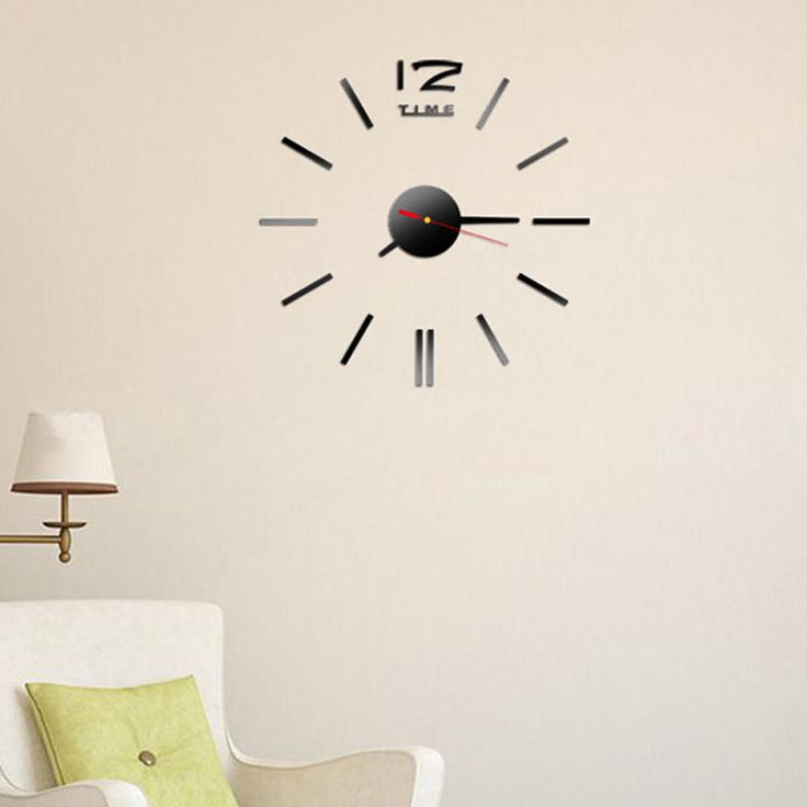 2016 New Fashion Wall Clock Acrylic Plastic Mirror Wall Home Decal Decor Vinyl Art Stickers for Home Bedroom VBD57 P60