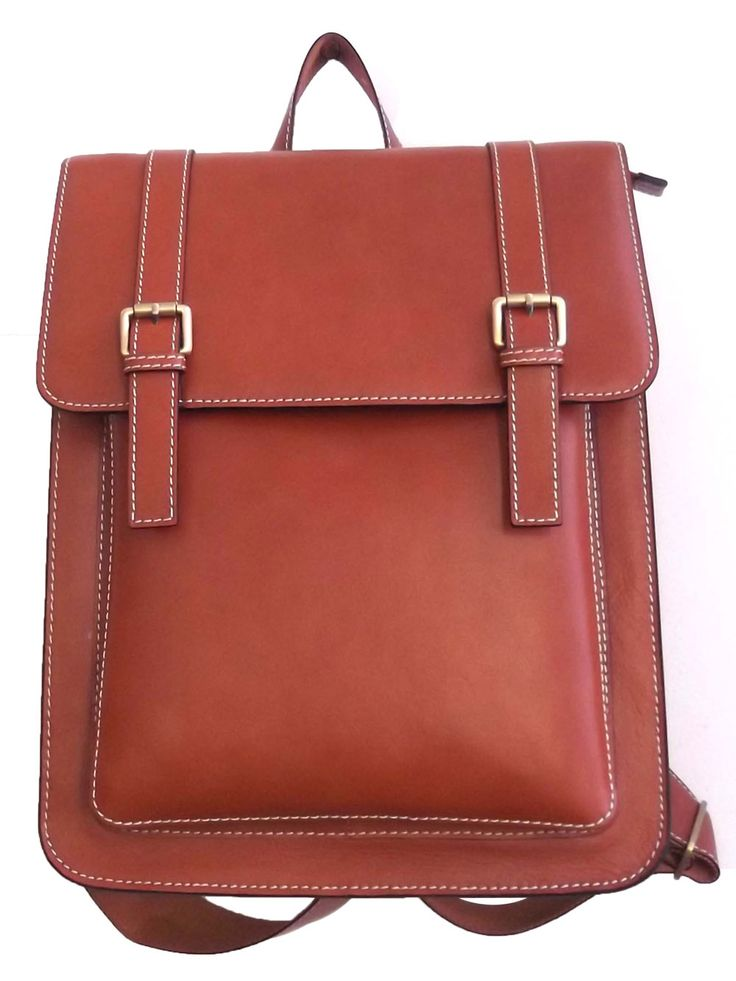 Brown Colour Retro Look PU Women Backpack