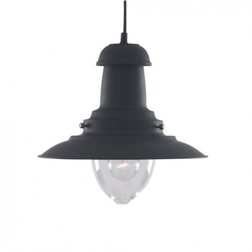 Fisherman Lantern Ceiling Light - black