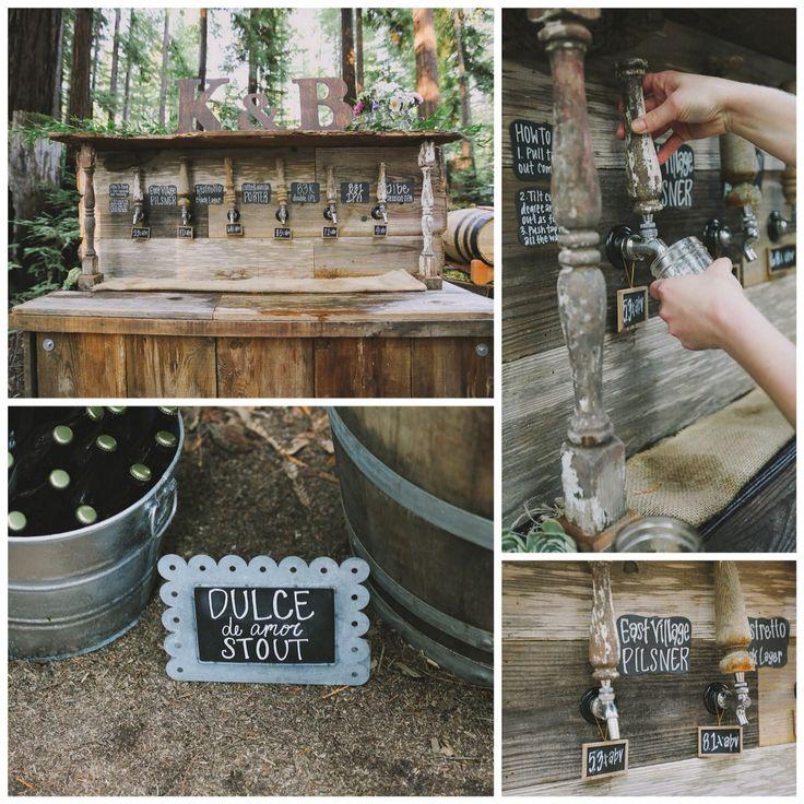 #redwoods #wedding #kevinandbri #beerbar  Set Designers: @donm @alyssameredith @dougmahergolfs  Venue: Camp Navarro  Photographer: @aimandarrow  Dress: #MBrideLaJolla