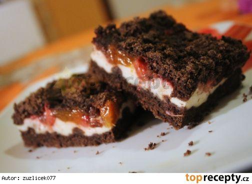 Drobenkový koláč s tvarohem