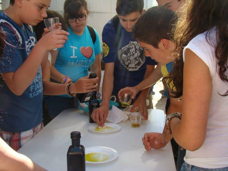 GUIDED TOURS TO THE MILL  A group of young Polish, discovering #oliveoil  aromas and tastes during the guided tour to the olive #mill, ending by a #tasting of our best #evoos