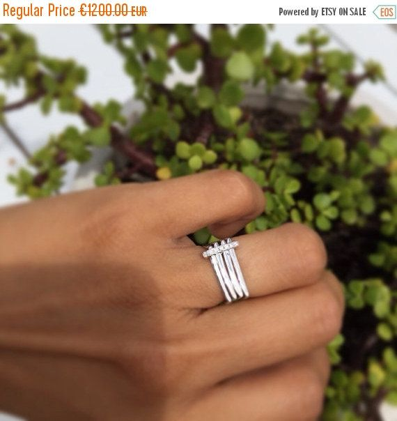 Spring Sale Square engagement ring with diamonds pavè | Modern engagement ring | Unique and unusual engagement ring