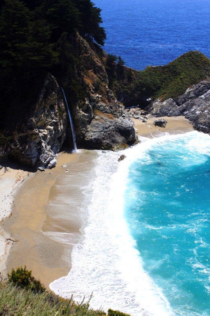 big-sur-waterfall #california #waterfall