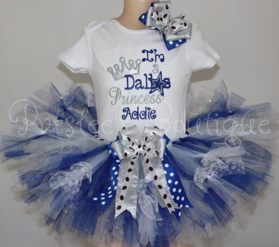 Dallas Princess tutu set Dallas Cowboys by Presleeschicboutique