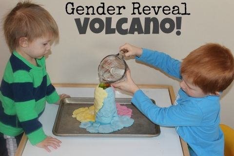 Gender Reveal Volcano!