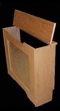 I wish I knew how to build things.. I need this cover for my monitor heater! ((Would like to make something like this for our monitor d/s... Like this, but a corner shelf that hides the monitor but can be moved to allow access if needed..))