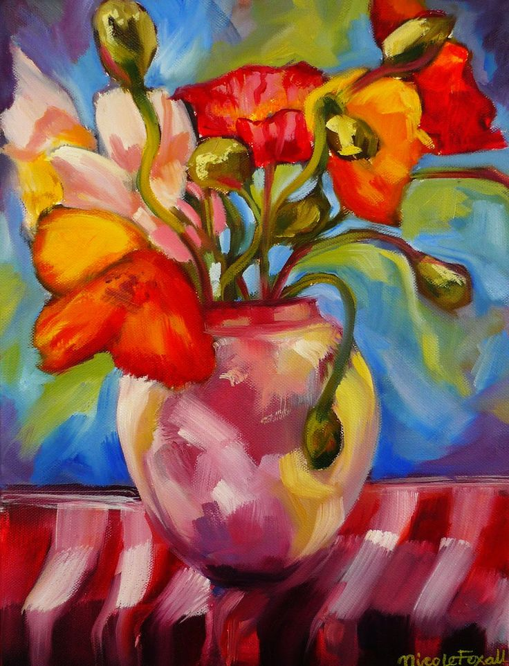 Nicole Foxall #poppies #flowers #oil painting