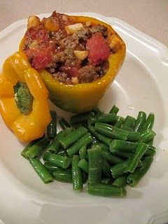 Stuffed peppers work for Phase 1 of the #FastMetabolismDiet This recipe is from a Paleo blog-- many Paleo recipes can also work on the Fast Metabolism Diet