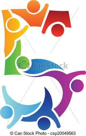 Number 5 Teamwork image logo - csp20049563
