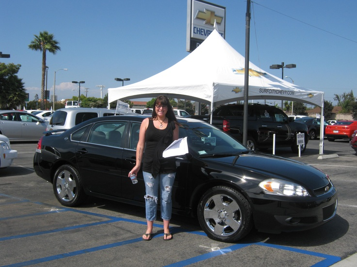 This is Mrs. Williams and her 2008 Impala SS...Congrats!