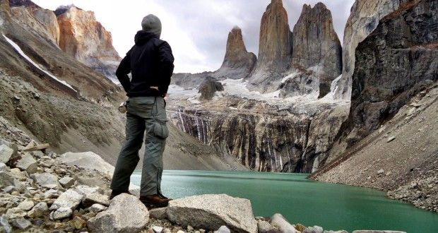 "Lookin at the ""Towers"" at Torres del Paine, Patagonia, Chile. One of the most impressive places I've been to recently. #southamerica #travel #patagonia #chile #torresdelpaine #hiking"
