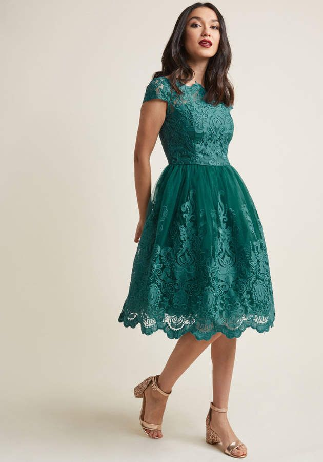 bfce803523a1 Chi Chi London Exquisite Elegance Lace Dress in Lake  Exquisite London Chi