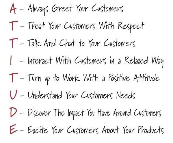 great customer service means