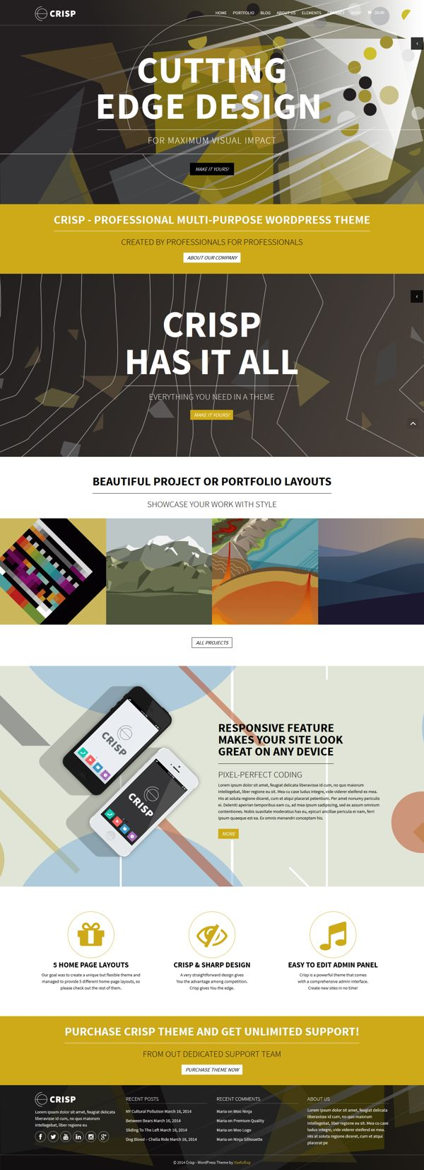 Crisp Multi-Purpose Wordpress Theme | #webdesign #it #web #design #layout #userinterface #website #webdesign < repinned by www.BlickeDeeler.de | Visit our website www.blickedeeler.de/leistungen/webdesign
