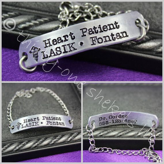 Chd Medical Bracelet Heart Patient Personalized Condition On Etsy 24 00 Heath Aaron S Hlhs And Awareness