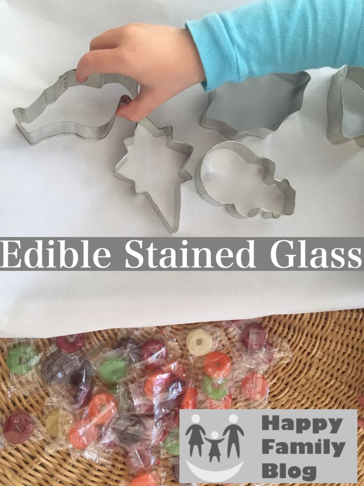 Edible Stained Glass - Happy Family Blog #ToddlerCraft #Crafts