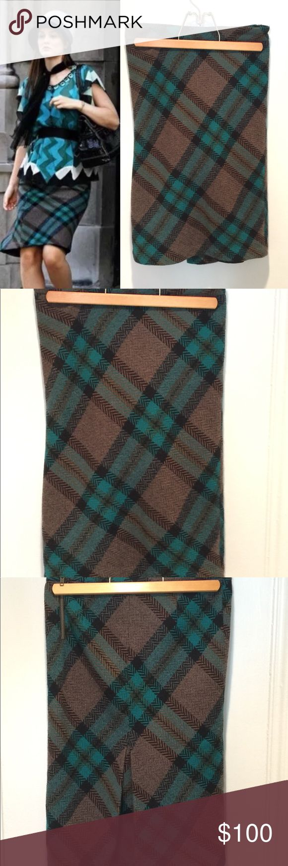 """L.A.M.B. Plaid skirt 2 Blair Waldorf Gossip Girl Hey upper east siders! For sale is a L.A.M.B. plaid pencil skirt, size 2, seen on Blair Waldorf in Gossip Girl episode 2x06: New Haven Can Wait. 100% lambwool. Fully lined. Approx measurements laying flat: waist - 13.5"""", length - 23"""". Good used condition! Original retail was $285, but feel free to make me an offer! Check out my other listings for more great Gossip Girl items. L.A.M.B. Skirts Pencil"""