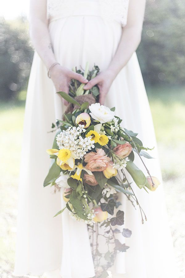 yellow, orange and white bouquet