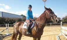 Equestrian show jumper and Olympic hopeful Danielle Goldstein is Israel's best hope to compete in equestiran show jumping at the 2016 Rio De Janeiro Games. (Ben Sales)