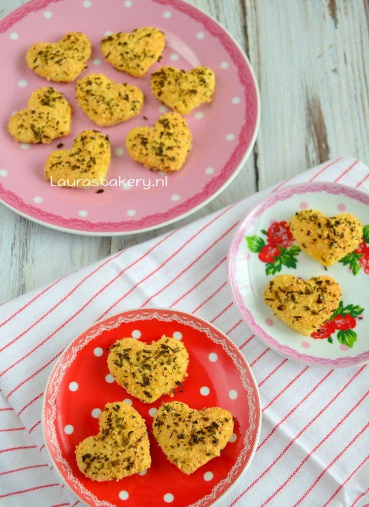 Parmezaanse harten koekjes - Laura's Bakery