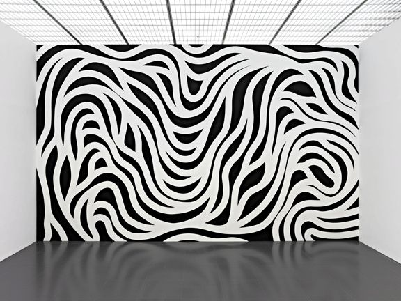 Sol LeWitt, Wall drawing #879, Loopy Doopy (black and white), 1998, LeWitt Collection, Chester, Connecticut