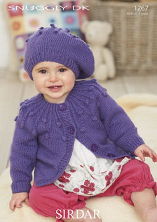 Knitting Pattern Baby cardigan and hat   sirdar 1267   size 0-7yrs  new by Bobbinswool on Etsy