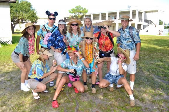 Tacky tourist-costume party?