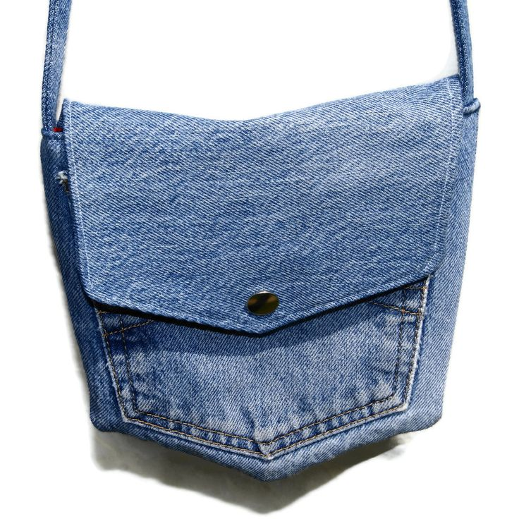Handmade Fabric Purses | ... Sewing using recycled Fabrics: Handmade Recycled Blue Denim Pocket Bag
